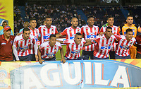 BARRANQUILLA - COLOMBIA, 25-04-2018: Formación del Atlético Junior contra el Atlético Nacional durante partido por la fecha 16 de la Liga Águila I 2018 jugado en el estadio Metropolitano Roberto Meléndez de la ciudad de Barranquilla. /  Team of Atletico Junior agaisnt of Atletico Nacional  during the match for the date 16  of the Liga Aguila I 2018 played at the Metropolitano Roberto Melendez Stadium in Barranquilla city. Photo: VizzorImage / Alfonso Cervantes / Contribuidor