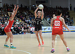 New Zealand&rsquo;s Shannon Francois in action during todays match   <br /> <br /> Swansea University International Netball Test Series: Wales v New Zealand<br /> Ice Arena Wales<br /> 08.02.17<br /> &copy;Ian Cook - Sportingwales