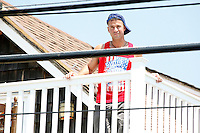 The Situation pictured on the deck of the shore house during filming of the last day before the cast leaves for good on The Jersey Shore Show season six in Seaside Heights, New Jersey on July 4, 2012  &copy; Star Shooter / MediaPunchInc *NORTEPHOTO*<br />