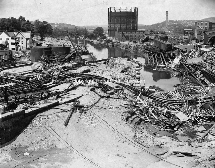 Debris left by the flood in the Bank Street area.