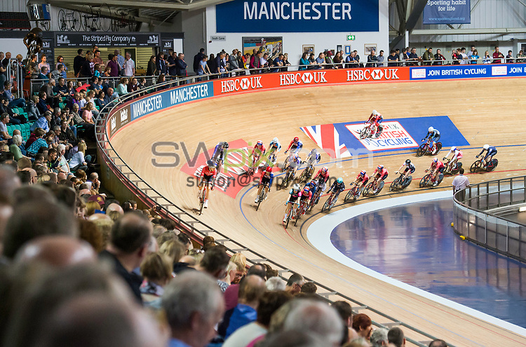 Picture by Allan McKenzie/SWpix.com - 28/01/2018 - Cycling - Track Cycling - HSBC UK National Track Championships - HSBC UK National Cycling Centre, Manchester, England - Female 20km Points race, The Brief.