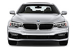 Car photography straight front view of a 2018 BMW 5 Series 530i 4 Door Sedan