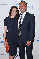 BEVERLY HILLS, CA, USA - APRIL 25: Alyson Hannigan, Tom Papa at the Jonsson Cancer Center Foundation's 19th Annual 'Taste For A Cure' held at Regent Beverly Wilshire Hotel on April 25, 2014 in Beverly Hills, California, United States. (Photo by Xavier Collin/Celebrity Monitor)