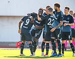 09.07.2019: St Joseph's v Rangers: Sheyi Ojo celebrates his goal