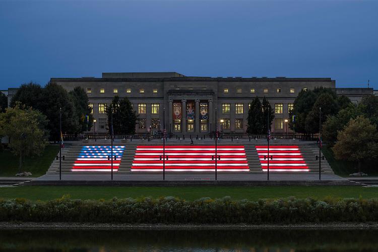 Genoa Park Amphitheater Stairs Lighting Design   Illumination Arts & Lumenpulse