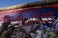 'Disarmament begins at home' - graffiti, Berlin Wall west zone.10 November 1989