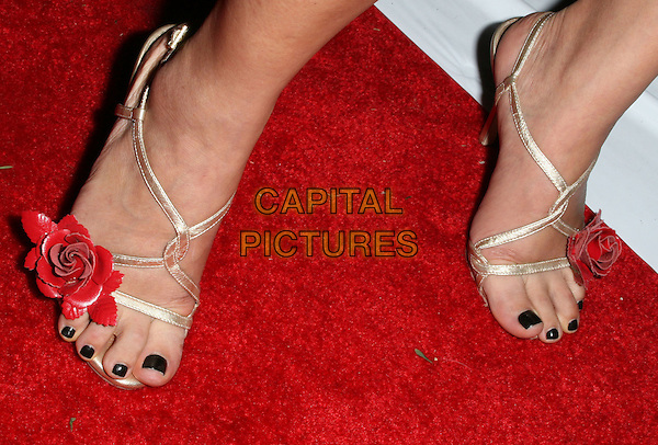 BAI LING .3rd Annual Hot in Hollywood, held at Avalon, Hollywood, California, .USA, 16 August 2008..detail gold red  shoes flower sandals .CAP/ADM/FS.©Faye Sadou/Admedia/Capital Pictures