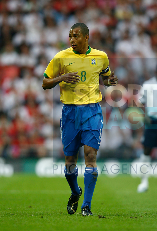 Brazil's Gilberto Silva..International Friendly..England v Brazil..1st June, 2007..--------------------..Sportimage +44 7980659747..admin@sportimage.co.uk..http://www.sportimage.co.uk/