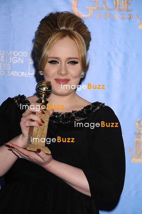 1/13/13.Adele at the 70th Annual Golden Globe Awards..(Beverly Hills, CA)