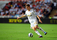 Saturday, 01 September 2012<br /> Pictured: <br /> Re: Barclays Premier League, Swansea City FC v Sunderland at the Liberty Stadium, south Wales.<br /> Ben Davies of Swansea
