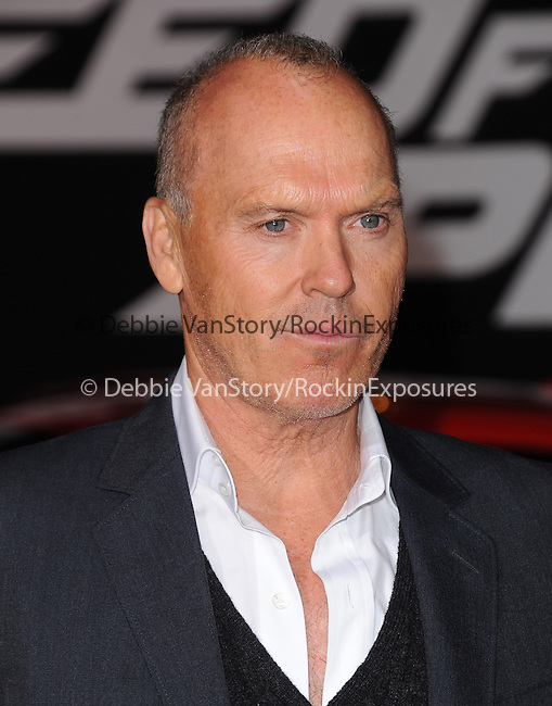 Michael Keaton attends The Dreamworks Pictures' L.A. premiere of Need for Speed held at The TCL Chinese Theater in Hollywood, California on March 06,2014                                                                               © 2014 Hollywood Press Agency