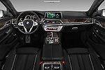 Stock photo of straight dashboard view of 2016 BMW 7 Series 4 Door Sedan Dashboard