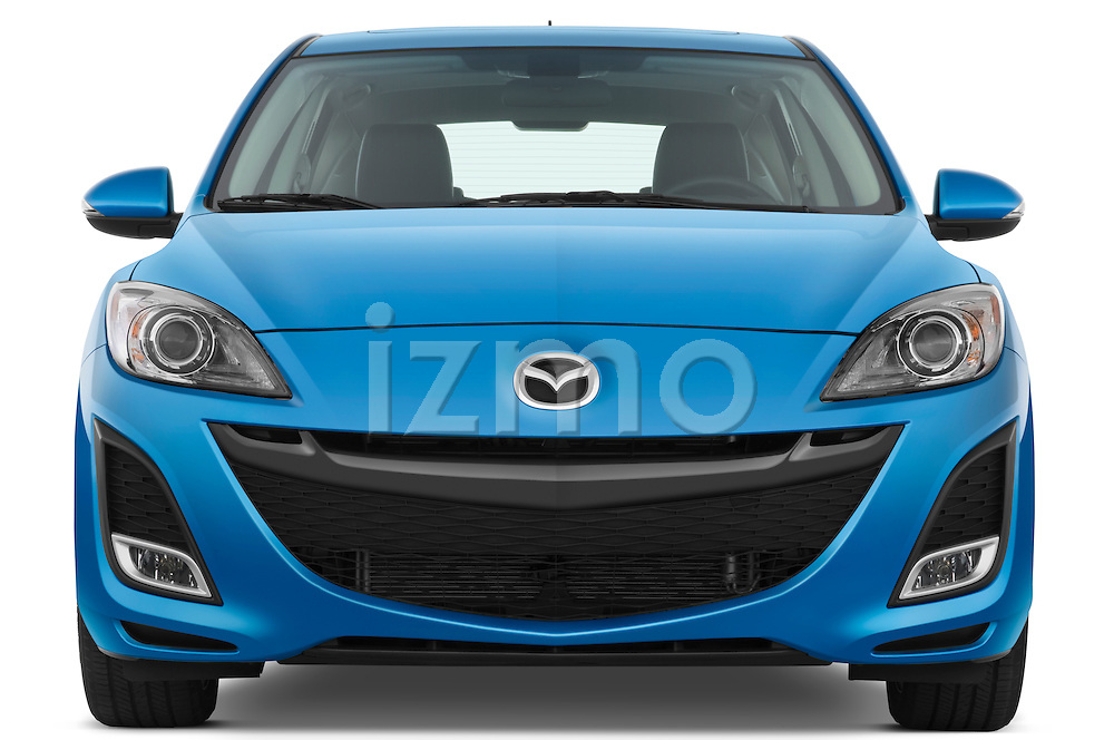 Straight front view of a 2010 Mazda 3 5-Door S Grand Touring