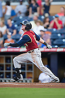 Ben Gamel (6) of the Scranton/Wilkes-Barre RailRiders follows through on his swing against the Durham Bulls at Durham Bulls Athletic Park on May 15, 2015 in Durham, North Carolina.  The RailRiders defeated the Bulls 8-4 in 11 innings.  (Brian Westerholt/Four Seam Images)