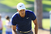 Julian Suri (USA) on the 3rd green during Saturday's Round 3 of the 2018 Turkish Airlines Open hosted by Regnum Carya Golf &amp; Spa Resort, Antalya, Turkey. 3rd November 2018.<br /> Picture: Eoin Clarke | Golffile<br /> <br /> <br /> All photos usage must carry mandatory copyright credit (&copy; Golffile | Eoin Clarke)