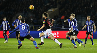 Bolton Wanderers' Yanic Wildschut competing with Sheffield Wednesday's defence<br /> <br /> Photographer Andrew Kearns/CameraSport<br /> <br /> The EFL Sky Bet Championship - Sheffield Wednesday v Bolton Wanderers - Tuesday 27th November 2018 - Hillsborough - Sheffield<br /> <br /> World Copyright &copy; 2018 CameraSport. All rights reserved. 43 Linden Ave. Countesthorpe. Leicester. England. LE8 5PG - Tel: +44 (0) 116 277 4147 - admin@camerasport.com - www.camerasport.com