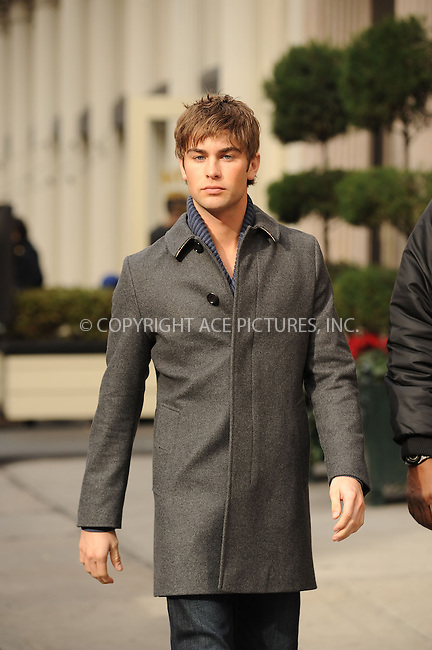 WWW.ACEPIXS.COM . . . . . ....December 2 2009, New York City....Actor Chace Crawford on the set of the TV show 'Gossip Girl' on December 2 2009 in New York City....Please byline: KRISTIN CALLAHAN - ACEPIXS.COM.. . . . . . ..Ace Pictures, Inc:  ..(212) 243-8787 or (646) 679 0430..e-mail: picturedesk@acepixs.com..web: http://www.acepixs.com