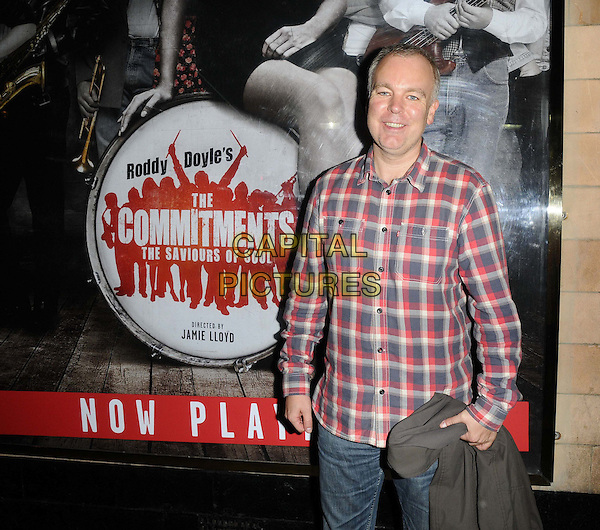 Steve Pemberton<br /> The &quot;The Commitments&quot; press night, Palace Theatre, Shaftesbury Avenue, London, England.<br /> October 8th, 2013<br /> half length grey gray red check shirt<br /> CAP/CAN<br /> &copy;Can Nguyen/Capital Pictures