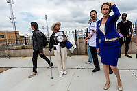 Staten Island, NY - 23 August 2014 - Democratic Gubernatorial candidate Zephyr Teachout the march for Eric Garner