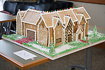 A gingerbread model of the Zenner House won first place overall at this year's gingerbread house decoration competiiton. Photo by Ben Siegel