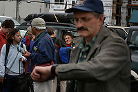 The Ketchikan dock is a flurry of activity when the ferry arrives from Prince of Wales Island.  Ferry transportation is critical to the region where the boat takes three hours to come from Hollis.  It runs twice a day in the summer and once a day in the winter.  Fishermen unload their boxed catch to transfer to the airport on their way home.  Tourists and locals unload bags and the next set of passengers wait to board the ferry back to Prince of Wales Island.  Buses, taxis and airport commuter vans fill the parking lot.
