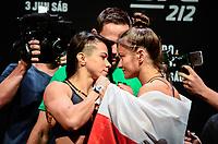 RIO DE JANEIRO, RJ, 02.06.2017 – UFC-RJ – Claudia Gadelha e Karolina Kowalkiewicz, durante pesagem para o UFC 212 na Arena Jeunesse, na zona oeste da cidade do Rio de Janeiro, na noite desta sexta-feira (02). (Foto: Jayson Braga / Brazil Photo Press)