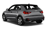 Car pictures of rear three quarter view of 2019 Audi A1-Sportback S-Line 5 Door Hatchback Angular Rear
