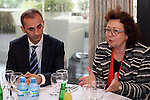 - ALBANIA - 06 October 2014 – Skills for the Future: South Eastern and Turkey –  Madlen Serban, Director ETF (C) and Abdilaqim Ademi, Minister of Labour and Social Policy of Macedonia (L) . PHOTO: EUP-Images - Gent SHKULLAKU / Light Studio Agency (LSA)