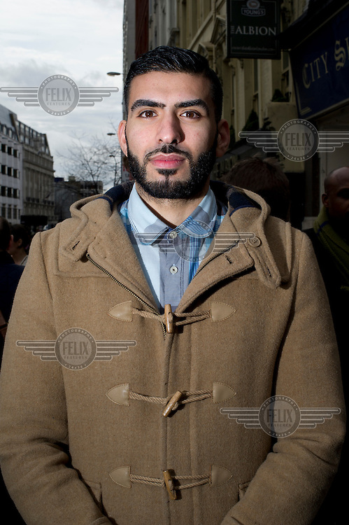 People who lined the streets of London for the funeral cortege of Margaret Thatcher, former British Prime Minister, who died on 8 April 2013 after suffering a stroke. ..Why did you come here today? ..Hayder Kazaz: 'I'm not political, I came to see and to honour her.' /Felix Features