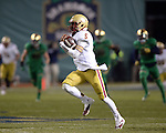 (Boston, MA, 11/21/15) Boston College quarterback Jeff Smith carries the ball for a fourth quarter touchdown as Notre Dame hosts Boston College at Fenway Park in Boston on Saturday, November 21, 2015. Photo by Christopher Evans