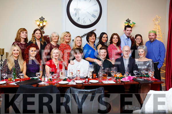 The staff of Sam McCauley Chemist in Manor Retail Park in Tralee celebrating at their Christmas party in the Denny Lane restaurant on Saturday night last.