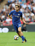 Chelsea's Marcos Alonso in action during the premier league match at the Wembley Stadium, London. Picture date 20th August 2017. Picture credit should read: David Klein/Sportimage