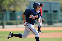 Infielder Joey Meneses (48) of the Atlanta Braves farm system in a Minor League Spring Training intrasquad game on Wednesday, March 18, 2015, at the ESPN Wide World of Sports Complex in Lake Buena Vista, Florida. (Tom Priddy/Four Seam Images)