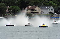 "13-14 June, 2009, APBA Inboards, Walled Lake, Novi, MI. USA.Nicky Pellerin, E-81 ""Crazy Cajun"", 5 Litre hydroplane,Mark Burghardt, E-726 ""X-Ray"", 5 Litre hydroplaneTom Thompson, E-816 ""Batt Boat"", 5 Litre hydroplane.©F. Peirce Williams 2009 USA.F.Peirce Williams.photography.ref: RAW (.NEF) File Available"