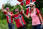 Norweigan fans await the race during Stage 4 of the 2018 Tour de France running 195km from La Baule to Sarzeau, France. 10th July 2018. <br /> Picture: ASO/Alex Broadway | Cyclefile<br /> All photos usage must carry mandatory copyright credit (&copy; Cyclefile | ASO/Alex Broadway)