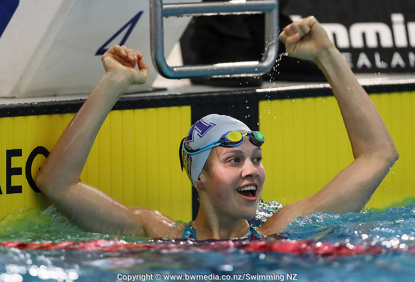Brearna Crawford, 50m Breast. New Zealand Short Course Swimming Championships, National Aquatic Centre, Auckland, New Zealand, Wednesday 2nd October 2019. Photo: Simon Watts/www.bwmedia.co.nz/SwimmingNZ