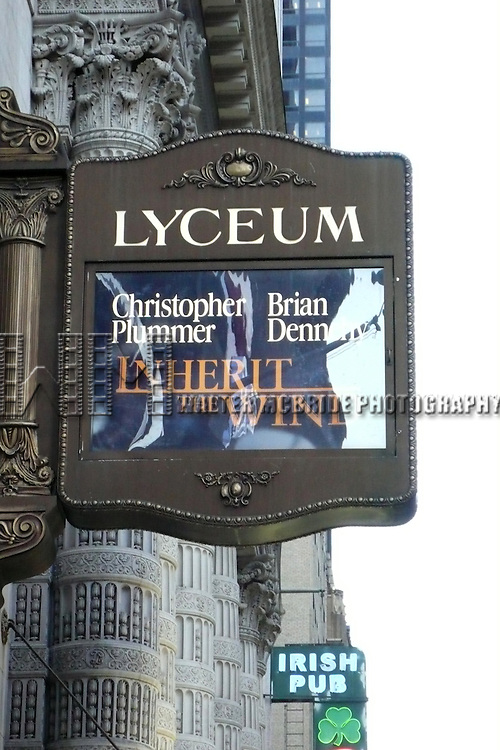 Tony Award winners Christopher Plummer and Brian Dennehy will co-star in a limited engagement of Jerome Lawrence and Robert E. Lee's 1955 courtroom drama Inherit the Wind..( Theatre Marquee ).Lyceum Theatre in New York City..March 9, 2007.© Alice Erardy / Spotlight