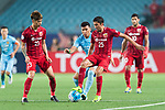 Jiangsu FC Forward Roger Beyker Martinez (L) in action against Shanghai FC Midfielder Akhmedov Odil (R) during the AFC Champions League 2017 Round of 16 match between Jiangsu FC (CHN) vs Shanghai SIPG FC (CHN) at the Nanjing Olympic Stadium on 31 May 2017 in Nanjing, China. Photo by Marcio Rodrigo Machado / Power Sport Images
