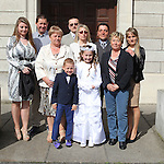 Natalia Bachula and her family pictured on First Holy Communion day.