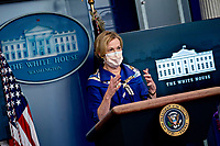 Ambassador Deborah L. Birx, M.D., White House Coronavirus Response Coordinator, wears a protective mask as she speaks during a news conference in the Brady Press Briefing Room of the White House in Washington, D.C., U.S., on Friday, May 22, 2020. United States President Donald J. Trump did not wear a face mask during most of his tour of Ford Motor Co.'s ventilator facility Thursday, defying the automaker's policies and seeking to portray an image of normalcy even as American coronavirus deaths approach 100,000. <br /> Credit: Andrew Harrer / Pool via CNP / MediaPunch
