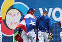 Acciones, durante el partido entre Italia vs Puerto Rico, World Baseball Classic en estadio Charros de Jalisco en Guadalajara, Mexico. Marzo 12, 2017. (AP Photo/Luis Gutierrez)