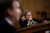 UNITED STATES - SEPTEMBER 27: Sen. John Kennedy, R-La., listens as Judge Brett Kavanaugh testifies during the Senate Judiciary Committee hearing on his nomination be an associate justice of the Supreme Court of the United States, focusing on allegations of sexual assault by Kavanaugh against Christine Blasey Ford in the early 1980s. (Photo By Tom Williams/CQ Roll Call/POOL)
