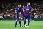 Supercopa de Espa&ntilde;a - Ida.<br /> FC Barcelona vs R. Madrid: 1-3.<br /> Lionel Messi &amp; Luis Suarez.