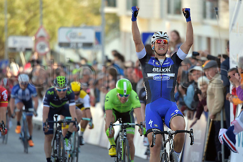 20.02.2016. Alportel, Portugal.  KITTEL Marcel (GER) Rider of ETIXX - QUICK STEP wins the sprint at the end of  stage 4 of the 42nd Tour of Algarve cycling race with start in S. Brss de Alportel and finish in Tavira on February 20, 2016 in Tavira, Portugal.