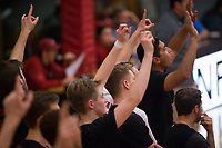 STANFORD, CA - January 2, 2018: Team at Burnham Pavilion. The Stanford Cardinal defeated the Calgary Dinos 3-1.