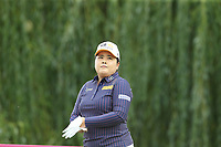 Inbee Park (KOR) on the 9th tee during Thursday's Round 1 of The Evian Championship 2018, held at the Evian Resort Golf Club, Evian-les-Bains, France. 13th September 2018.<br /> Picture: Eoin Clarke | Golffile<br /> <br /> <br /> All photos usage must carry mandatory copyright credit (© Golffile | Eoin Clarke)