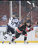 Kristina Lavoie (UNH - 10), Lindsay Berman (NU - 13) - The University of New Hampshire Wildcats defeated the Northeastern University Huskies 5-3 (EN) on Friday, January 8, 2010, at Fenway Park in Boston, Massachusetts as part of the Sun Life Frozen Fenway doubleheader.