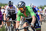 Green Jersey Peter Sagan (SVK) Bora-Hansgrohe in action on the cobbles during Stage 9 of the 2018 Tour de France running 156.5km from Arras Citadelle to Roubaix, France. 15th July 2018. <br /> Picture: ASO/Pauline Ballet | Cyclefile<br /> All photos usage must carry mandatory copyright credit (&copy; Cyclefile | ASO/Pauline Ballet)
