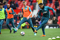 Martin Olson of Swansea City during the pre-match warm-up prior to the Premier League match between Manchester United and Swansea City at the Old Trafford, Manchester, England, UK. Saturday 31 March 2018