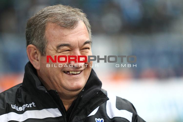 29.01.2011, Allianz Arena , Muenchen , GER, 2.FBL, TSV 1860 Muenchen vs MSV Duisburg , im Bild Milan Sasic (Trainer Duisburg) lacht , Foto © nph / Straubmeier
